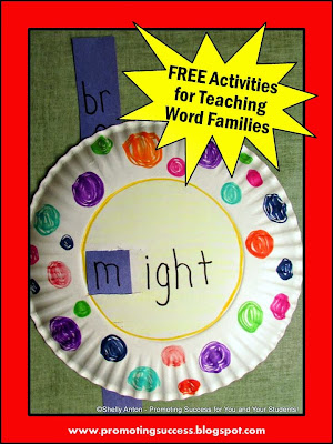 word families craftivity vocabulary craft
