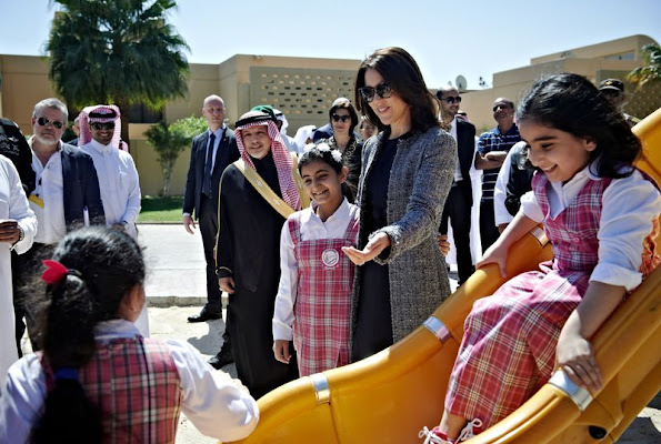 Crown Prince Frederik and Crown Princess Mary of Denmark visited King Abdullah Financial District, which is the new financial district in Riyadh and architects Henning Larsen Architects is behind.