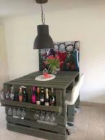 bar casero con palets de madera