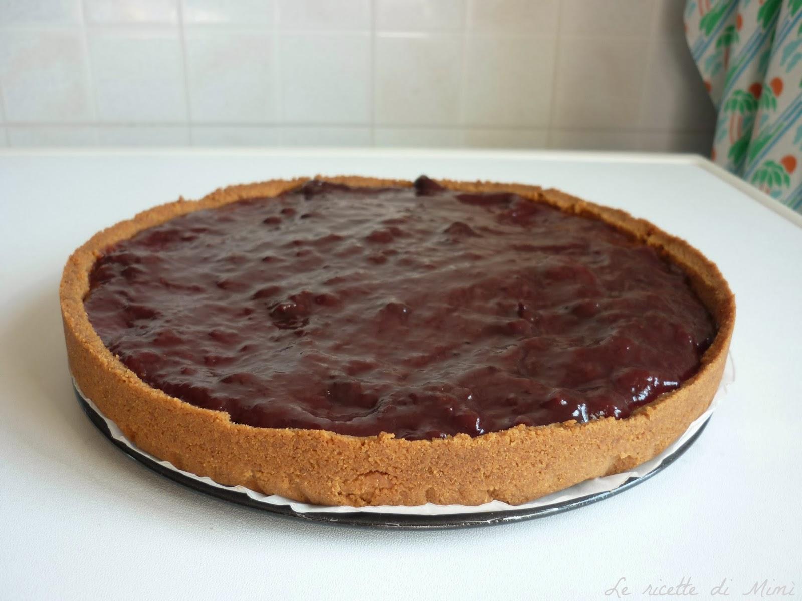 Super Le ricette di Mimì: Torta di biscotti con ricotta e marmellata NO71