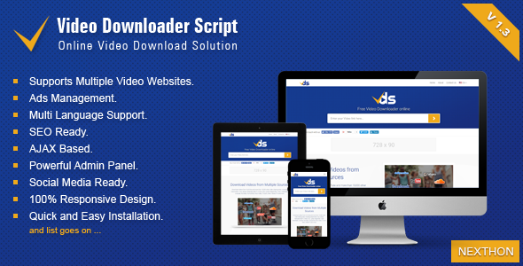 Video Downloader Script 1.3 - All In One Video Downloader, Video Downloader Script 1.3, All In One Video Downloader Nulled, Video Downloader Script v1.3 Nulled