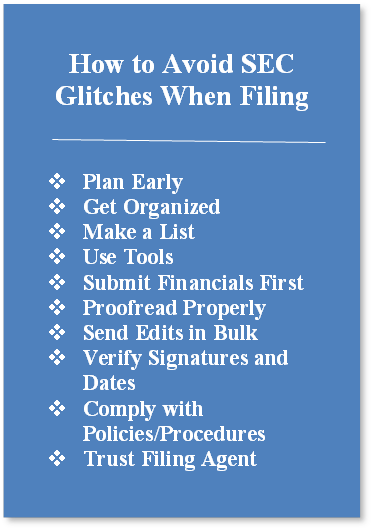 Get to know edgar agents how to avoid sec glitches that cause major setbacks sciox Images