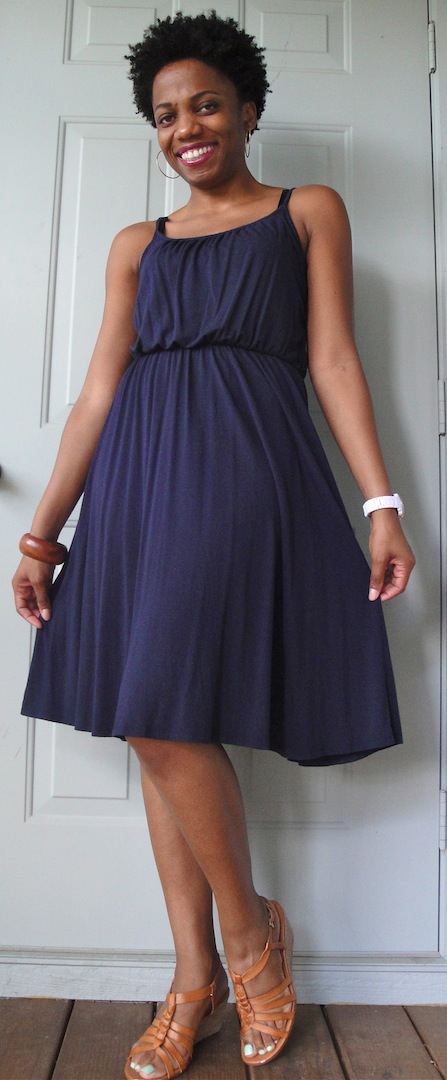 Simple Updates for a Basic Knit Summer Dress