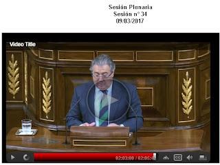 pantallazo del vídeo en streaming de la sesion  plenaria