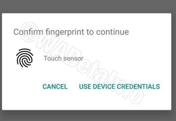 he WhatsApp Fingerprint authentication feature is shown in the beta version of the Android app