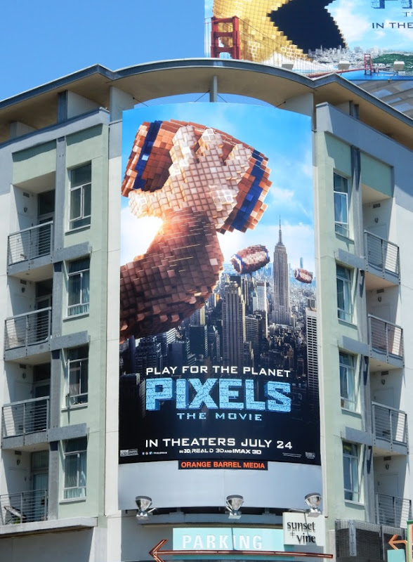 Pixels The Movie Donkey Kong billboard