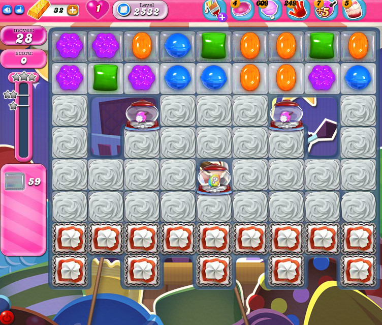 Candy Crush Saga level 2532