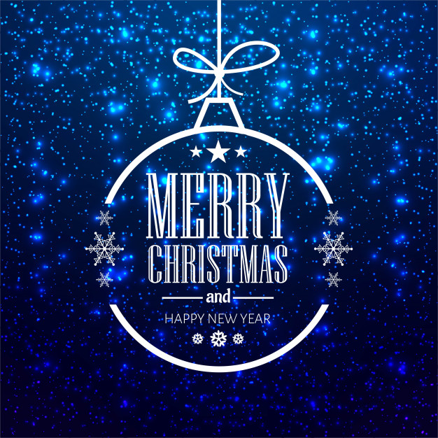 Modern merry christmas background Free Vector