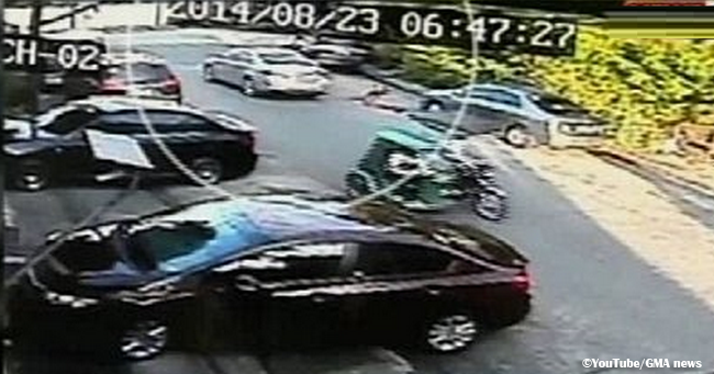 CCTV Video of Naked Teenager Fall Out of a Luxury Car in Mandaluyong