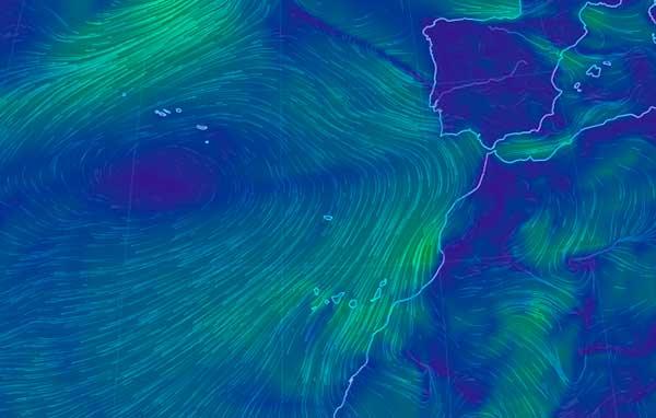 Viento moderado en Canarias y bajada de temperaturas en gran parte de las islas  a partir del sábado 18 de mayo
