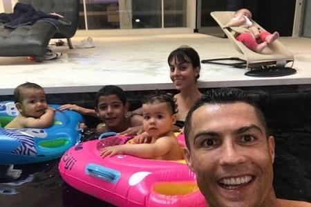 Cristiano Ronaldo Celebrates His Twins' First Birthdays