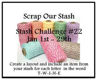Scrap Our Stash January Stash Challenge