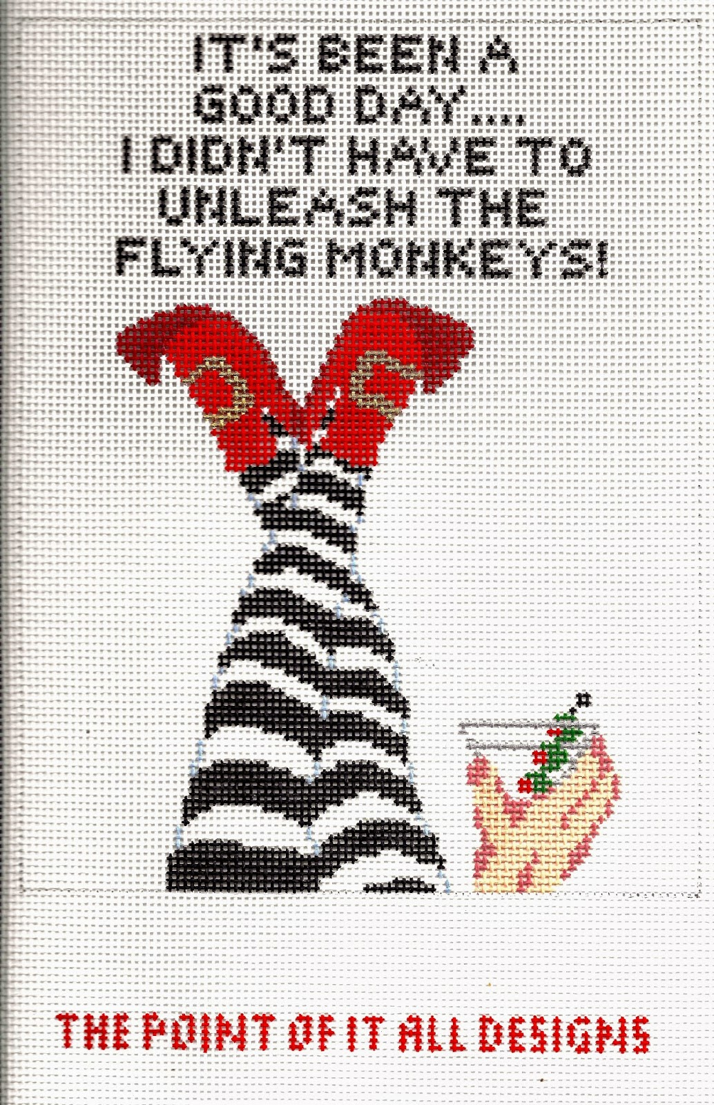 b54264ea9a3 Now that my No Flying Monkeys canvas has been divided into the