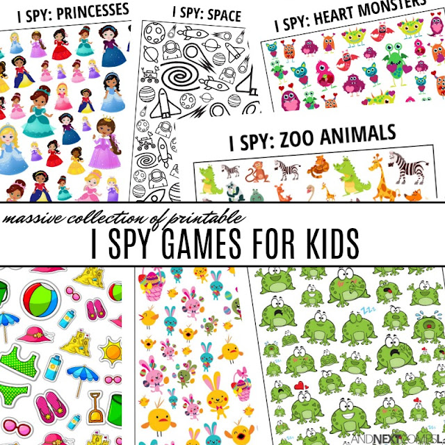 Huge collection of printable I spy games for kids from And Next Comes L