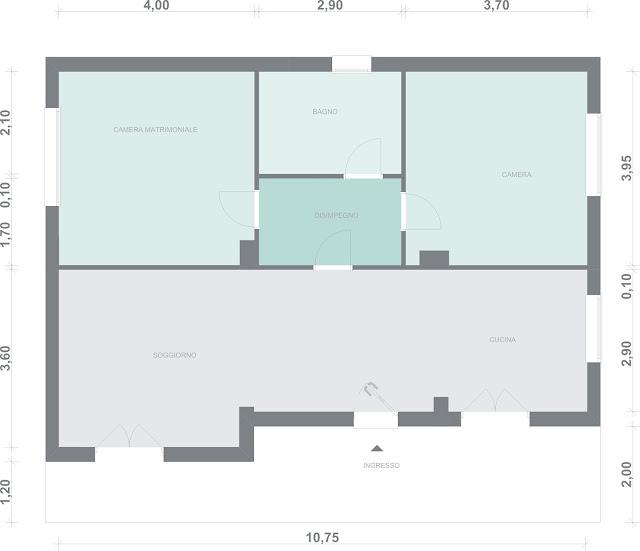 Makeyourhome 80 mq 2bagni e 1studio - Come arredare una casa di 60 mq ...
