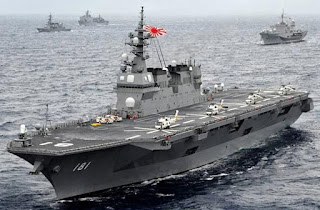China warns Japan against modifying helicopter carriers