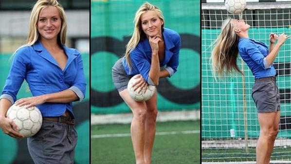"""ملكة جمال كرواتيا اول """"انثي"""" تتولي تدريب فريق لكرة القدم .. شاهد ماذا قالت عن مصر ! شاهد بالصور .."""