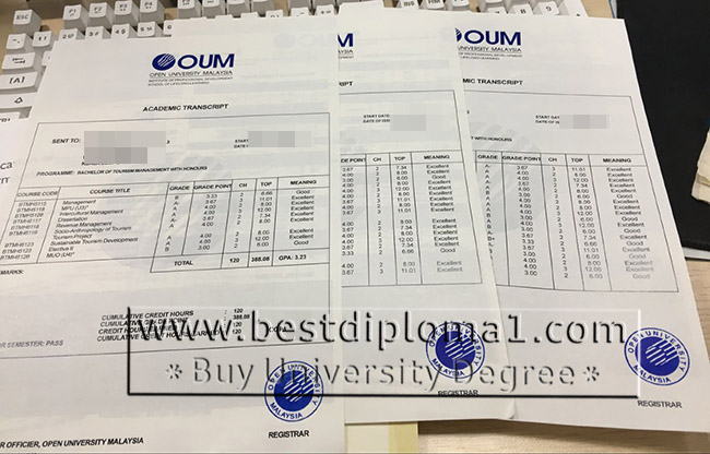 buy fake OUM academic transcript