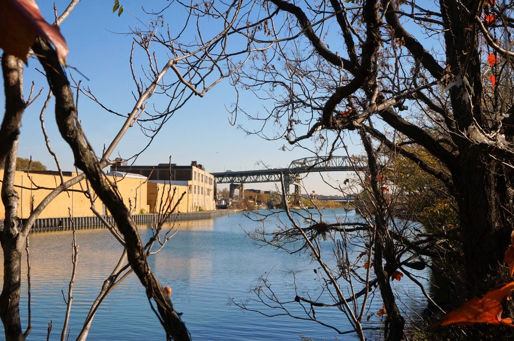 Kosciuszko Bridge from end of Meeker Avenue