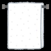 タオル掛けのイラスト