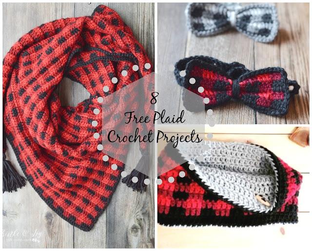 8 Free Plaid Crochet Projects