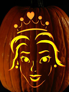 girls face pumpkins carving art for halloween