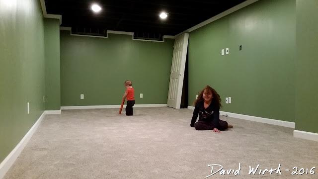 carpet in basement, play room ideas