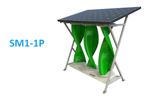 Wind Voltz Hybrid Solar Wind Energy System - Solar Mill SM1 - 1P