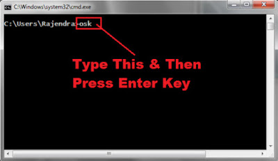 how to open onscreen keyboard with cmd