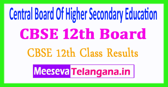 Central Board of Secondary Education Sr Secondary School Results CBSE 12th Class Result 2018