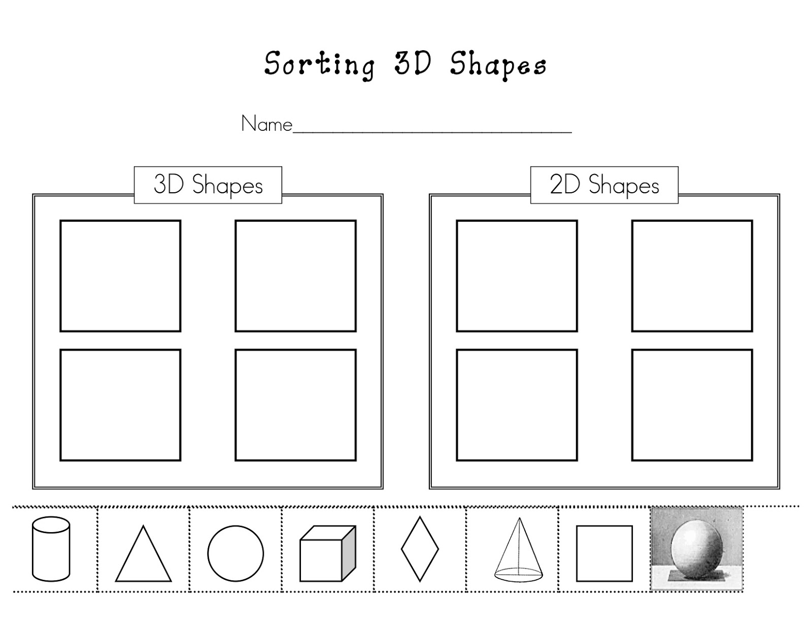 Kinder Learning Garden Teaching 3d Shapes