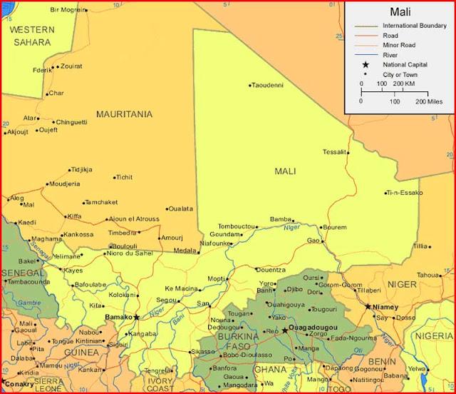 Gambar Peta Mali