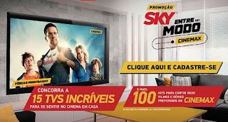 """Promoção """"sky, Entre no Modo Cinemax"""""""