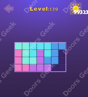 Cheats, Solutions, Walkthrough for Move Blocks Easy Level 139