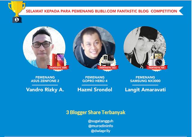 Pemenang Lomba Blibli Blog Competition 2015
