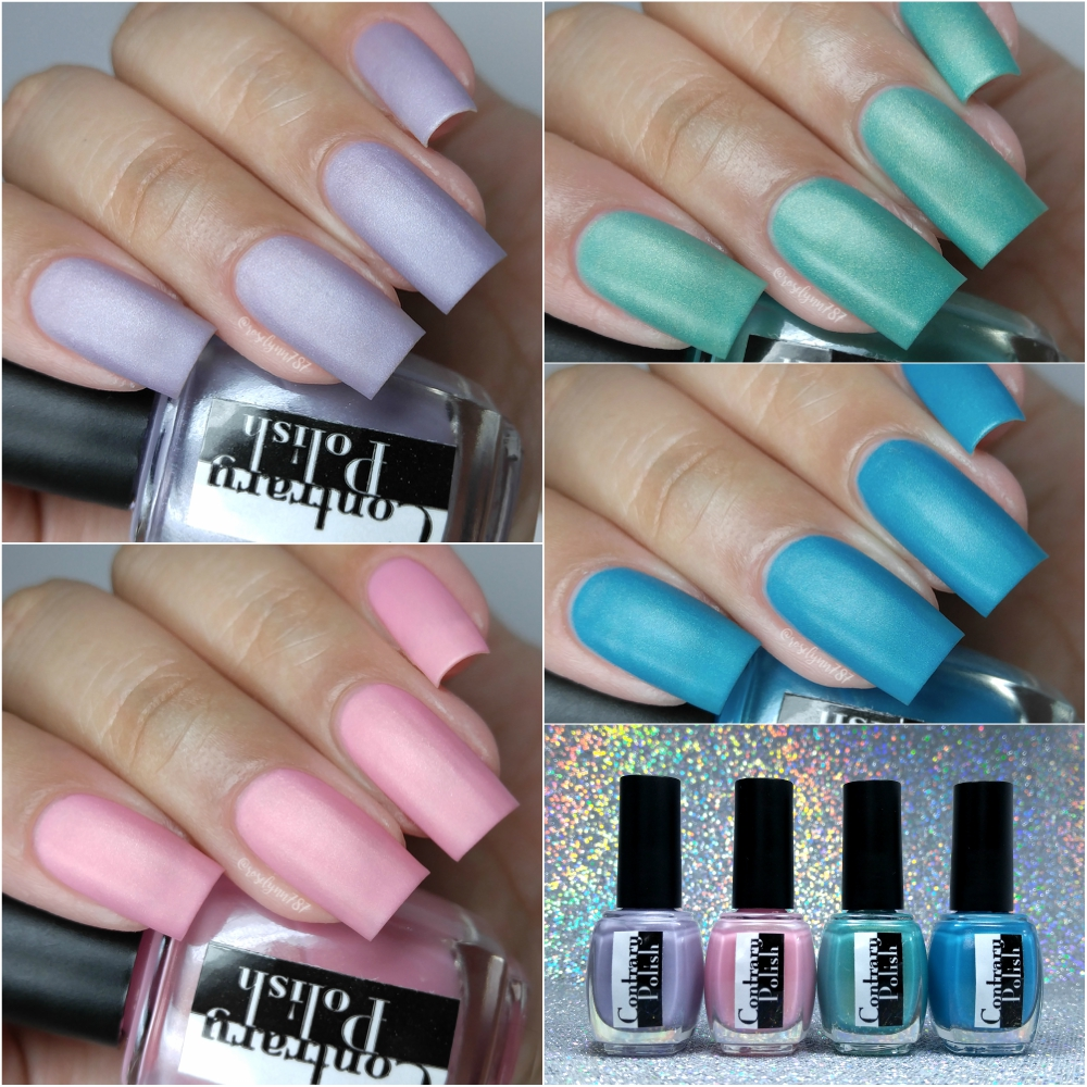 Contrary Polish - Cotton Candy Mattes Collection - Manicured & Marvelous
