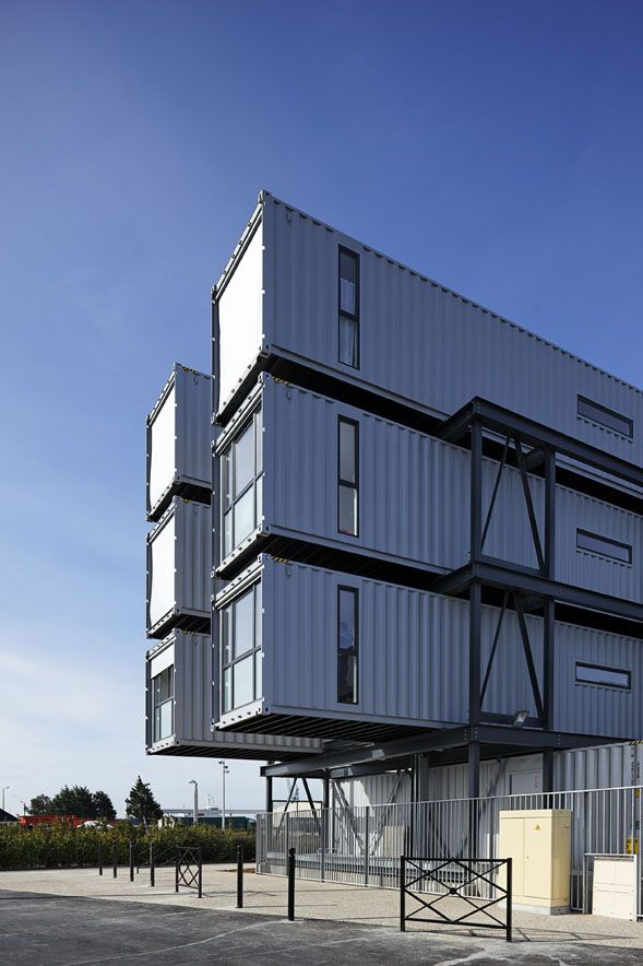 shipping container homes cattani architects cit a docks le havre france shiiping. Black Bedroom Furniture Sets. Home Design Ideas