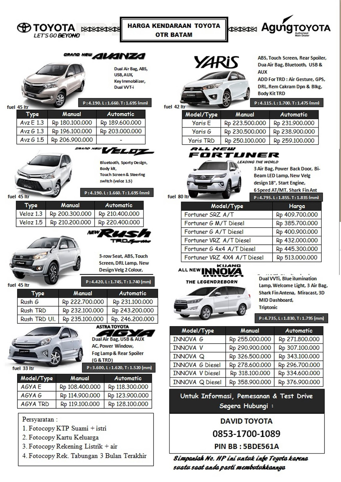 Harga Toyota Grand New Avanza 2016 Warna Putih Price List Terbaru 3 Maret Update David Batam