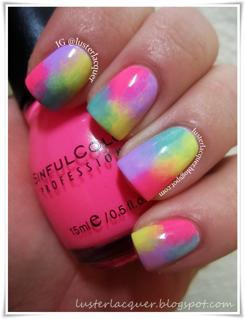 Luster Lacquer Abstract Nail Art: Luster Lacquer: Abstract Nail Art