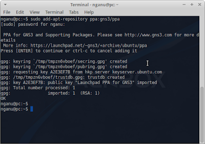 $ sudo add-apt-repository ppa:gns3/ppa