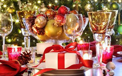 Dekorasi Meja Makan Untuk Natal