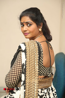 Telugu Actress Jayavani Jayavani Stills in Black Saree at Intlo Deyyam Nakem Bhayam Success Meet  0070.JPG