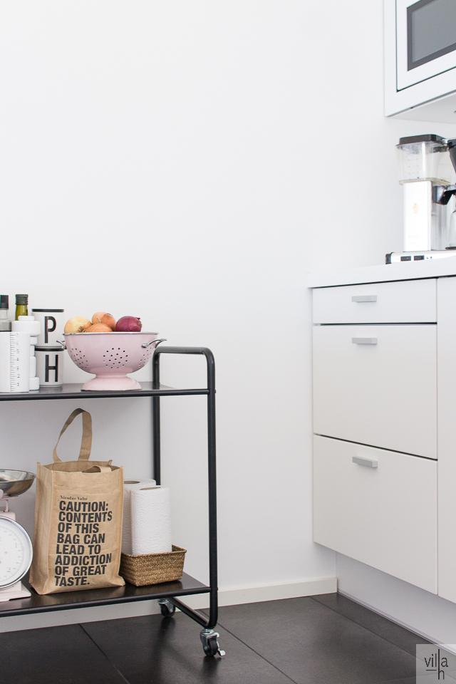 keittiö, sisustus, tarjoiluvaunu