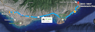 Map to Makupu'u Lighthouse Trail