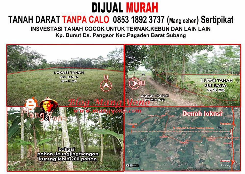Tanah Dijual Murah di Pagaden Barat, Subang