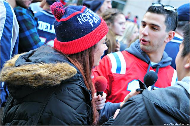 Entrevista en el Desfile de los Patriots por la Celebración de la Super Bowl LIII