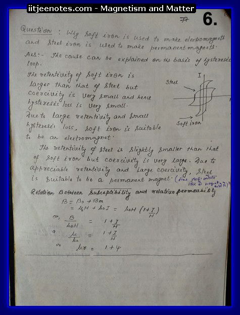 magnetism and matter notes physics