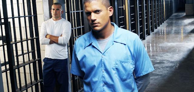 Wentworth Miller (Michael Scofield) și Dominic Purcell (Lincoln Burrows) în Sezonul 1 al serialului Prison Break