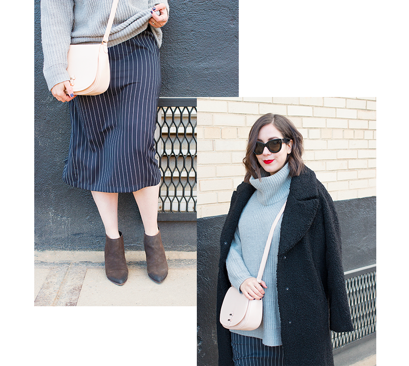 How to styling a slip dress for winter