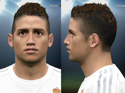PES 2016 James Rodriguez Face by Wahaj47